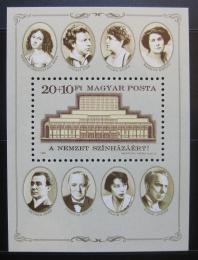 Poštovní známka Maïarsko 1986 Národní divadlo Mi# Block 186