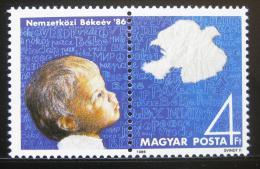 Poštovní známky Maïarsko 1986 Mezinárodní rok míru Mi# 3843
