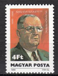 Poštovní známka Maïarsko 1986 Ferenc Münnich, politik Mi# 3846
