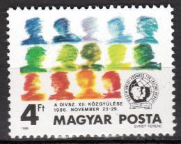 Poštovní známka Maïarsko 1986 Kongres mládeže Mi# 3847