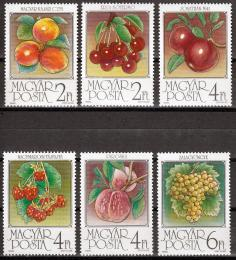 Poštovní známky Maïarsko 1986 Ovoce Mi# 3848-53 Kat 6€