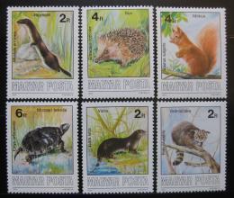 Poštovní známky Maïarsko 1986 Chránìná fauna Mi# 3860-65