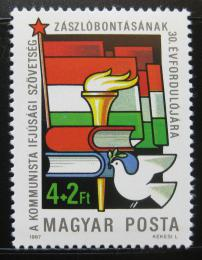 Poštovní známka Maïarsko 1987 Mladí komunisti Mi# 3885