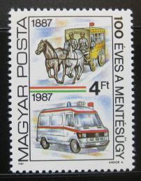 Poštovní známka Maïarsko 1987 Záchranáøi Mi# 3896