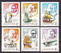 Poštovní známky Maïarsko 1987 Prùzkum Antarktidy Mi# 3907-12