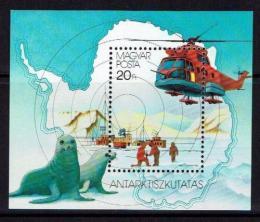 Poštovní známka Maïarsko 1987 Prùzkum Antarktidy Mi# Block 190