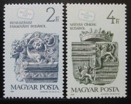 Poštovní známky Maïarsko 1987 Den známek Mi# 3918-19