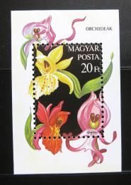 Poštovní známka Maïarsko 1987 Orchideje Mi# Block 192