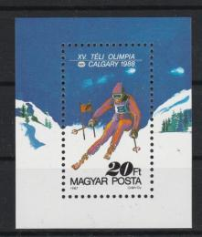 Poštovní známka Maïarsko 1987 ZOH Calgary Mi# Block 193