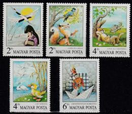 Poštovní známky Maïarsko 1987 Pohádky Mi# 3937-41