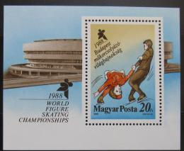 Poštovní známka Maïarsko 1988 MS v krasobruslení Mi# Block 195