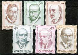 Poštovní známky Maïarsko 1988 Nositelé Nobelovy ceny Mi# 3995-4000