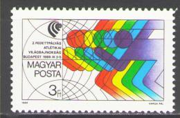 Poštovní známka Maïarsko 1989 MS v atletice Mi# 4010