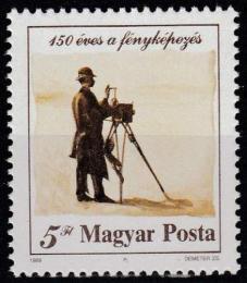 Poštovní známka Maïarsko 1989 Fotografie,150. výroèí Mi# 4027