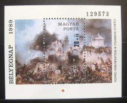 Poštovní známka Maïarsko 1989 Umìní Mi# Block 205