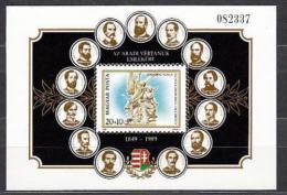Poštovní známka Maïarsko 1989 Obìti z Aradu Mi# Block 206