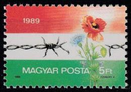 Poštovní známka Maïarsko 1989 Otevøení hranic do Rakouska Mi# 4052