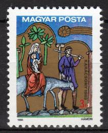 Poštovní známka Maïarsko 1989 Vánoce Mi# 4054