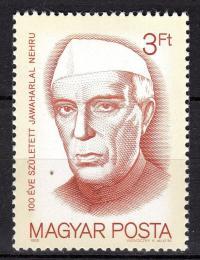 Poštovní známka Maïarsko 1989 Jawaharlal Nehru Mi# 4055