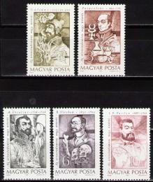 Poštovní známky Maïarsko 1989 Lékaøi Mi# 4060-64