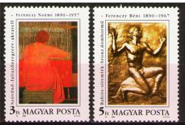 Poštovní známky Maïarsko 1990 Umìní, Ferenczy Mi# 4095-96