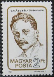 Poštovní známka Maïarsko 1984 Béla Balázs, básník Mi# 3716