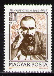 Poštovní známka Maïarsko 1983 Gyula Juhász, básník Mi# 3599