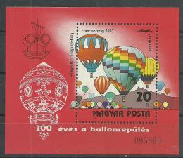 Poštovní známka Maïarsko 1983 Letectví Mi# Block 162