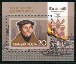 Poštovní známka Maïarsko 1983 Martin Luther Mi# Block 165