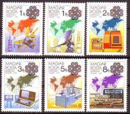 Poštovní známka Maïarsko 1983 Svìtový rok komunikace Mi# 3636-41