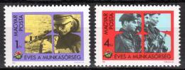 Poštovní známky Maïarsko 1982 Lidové milice, 25. výroèí Mi# 3532-33
