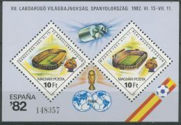 Poštovní známky Maïarsko 1982 MS ve fotbale Mi# Block 155