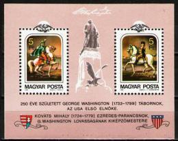 Poštovní známky Maïarsko 1982 George Washington Mi# Block 158