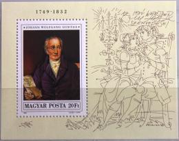 Poštovní známka Maïarsko 1982 Wolfgang Goethe Mi# Block 161