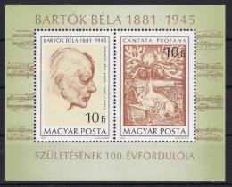 Poštovní známky Maïarsko 1981 Béla Bartók Mi# Block 148