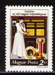 Poštovní známka Maïarsko 1981 Telefonní centrála, 100. výroèí Mi# 3493