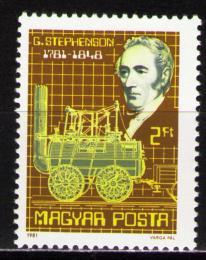 Poštovní známka Maïarsko 1981 Parní lokomotiva Mi# 3502