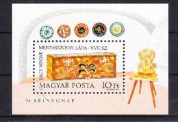 Poštovní známka Maïarsko 1981 Svatební truhla Mi# Block 151