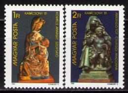 Poštovní známky Maïarsko 1981 Vánoce Mi# 3522-23