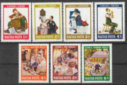 Poštovní známky Maïarsko 1981 Ilustrace, Rockwell Mi# 3524-30
