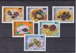Poštovní známky Maïarsko 1980 Hmyz a kvìtiny Mi# 3405-10