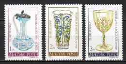 Poštovní známky Maïarsko 1980 Výrobky ze skla Mi# 3445-47