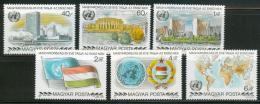 Poštovní známky Maïarsko 1980 Vstup do OSN, 25. výroèí Mi# 3461-66