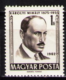 Poštovní známka Maïarsko 1962 Mihály Károlyi, politik Mi# 1816