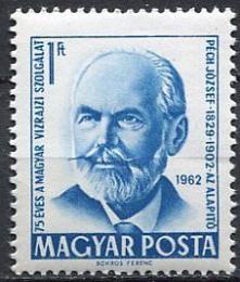 Poštovní známka Maïarsko 1962 József Péch, hydrograf Mi# 1841