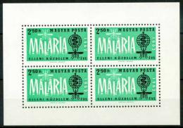 Poštovní známka Maïarsko 1962 Boj proti malárii Mi# Block 35