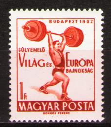 Poštovní známka Maïarsko 1962 Vzpírání Mi# 1865
