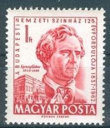 Poštovní známka Maïarsko 1962 Gábor Egressy, herec Mi# 1867
