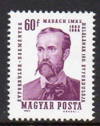 Poštovní známka Maïarsko 1964 Imre Madách, dramatik Mi# 2022