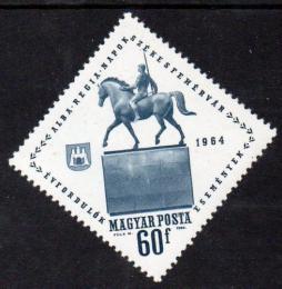 Poštovní známka Maïarsko 1964 Socha jezdce na koni Mi# 2052